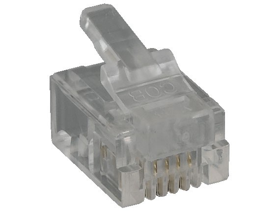 RJ11 6P4C Modular Plug for Flat Stranded Cable, 50pcs/Bag