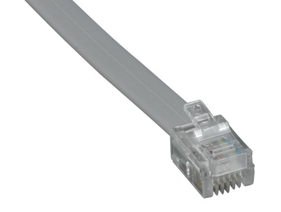 14ft RJ11 6P4C Straight Modular Cable