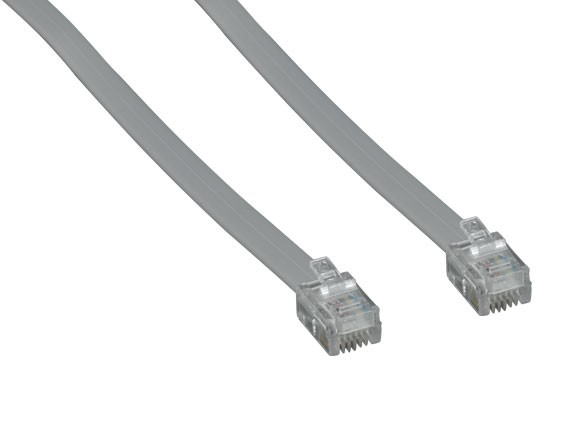 7ft RJ11 6P4C Straight Modular Cable