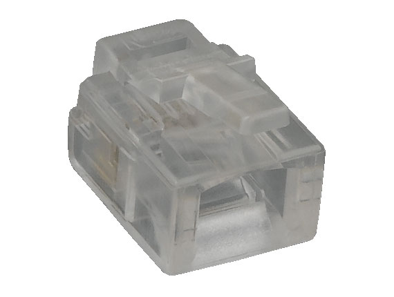RJ11 6P4C Modular Plug for Round Stranded Cable, 50pcs/Bag