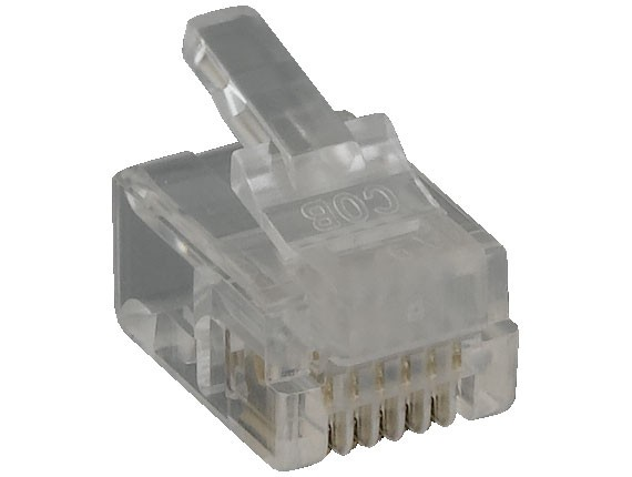 RJ12 6P6C Modular Plug for Flat Stranded Cable, 50pcs/Bag