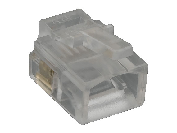 RJ12 6P6C Modular Plug for Round Solid Cable, 50pcs/Bag