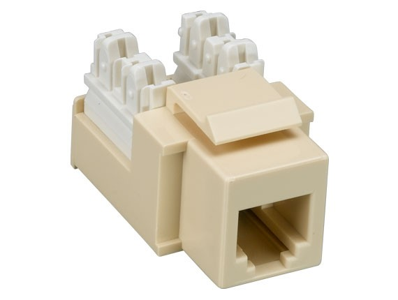 RJ12 110 Type Punch Down Keystone Jack Ivory Color