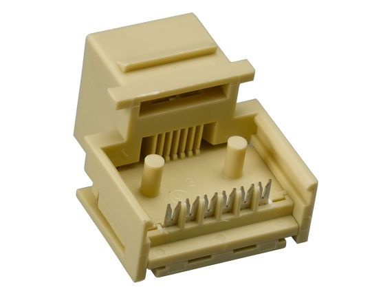 RJ12 Tool Less Keystone Jack Ivory Color
