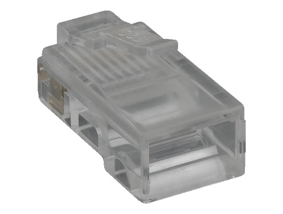 RJ45 8P8C Modular Plug for Flat Stranded Cable, 50pcs/Bag
