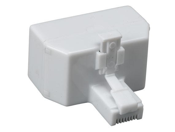RJ45 One Male to Two Female Modular T-Adapter