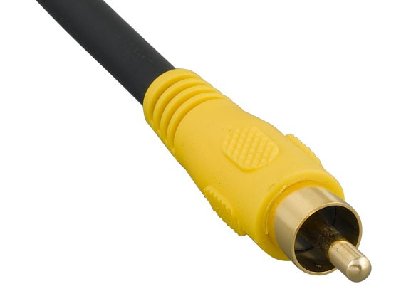 25ft S-Video Mini-DIN4 Male to RCA Male Video Cable