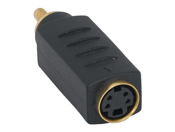 S-Video Female to RCA Male Gold Plated Adapter