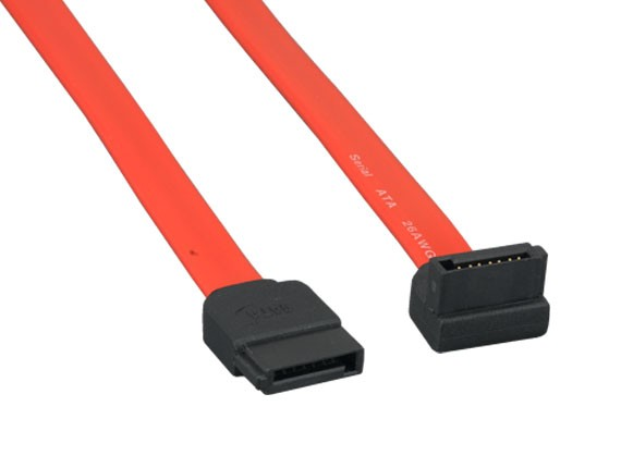 1m 7-pin 180° to 90° Serial ATA Device Cable