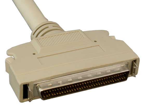 3ft SCSI-3 HPDB68 Male to SCSI-1 CN50 Male Cable, Latch Clip