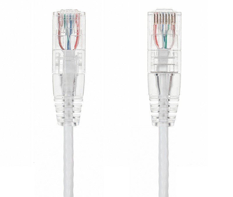 3ft Slim Cat6 28 AWG UTP Snagless Ethernet Network Patch Cable, White