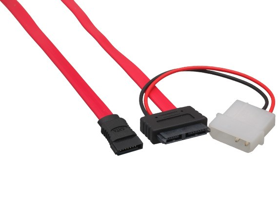 Slimline SATA to SATA Data with Molex Power