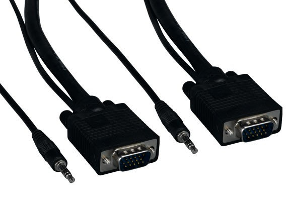 100ft SVGA HD15 M/M Monitor Cable with Stereo Audio