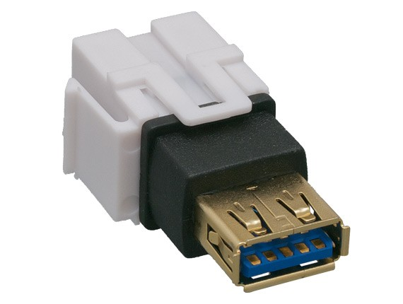 USB 3.0 A Female to A Female Keystone Jack, Flush Type