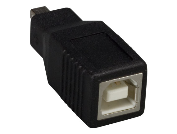 USB B Female to Mini B 4-pin Male Adapter