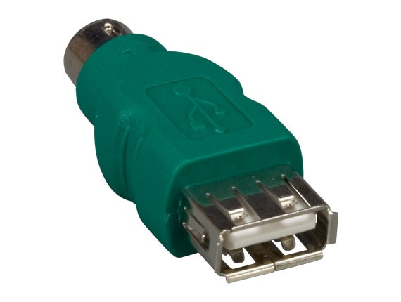 USB Type A Female to PS/2 6-pin Male Converter For Logitech